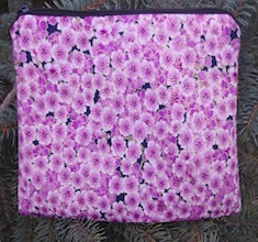 Cherry Blossoms zippered bag, The Scooter