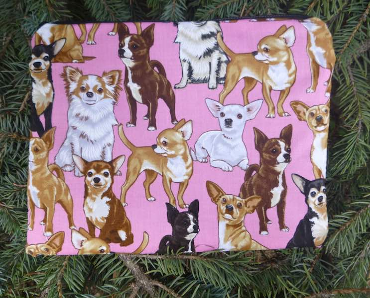 Chihuahua Mahjongg card and coin purse, The Slide