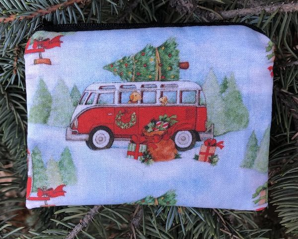 Christmas Camping V.W. bus Coin Purse, The Raven