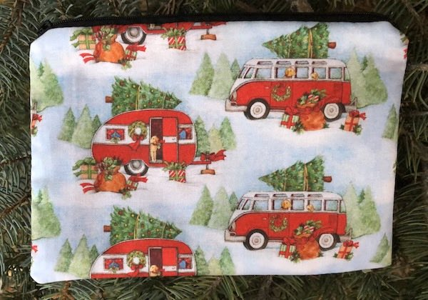 Christmas Camping zippered bag, The Scooter