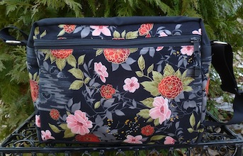 Classic Asian Flowers Tilly Shoulder Bag-CLEARANCE