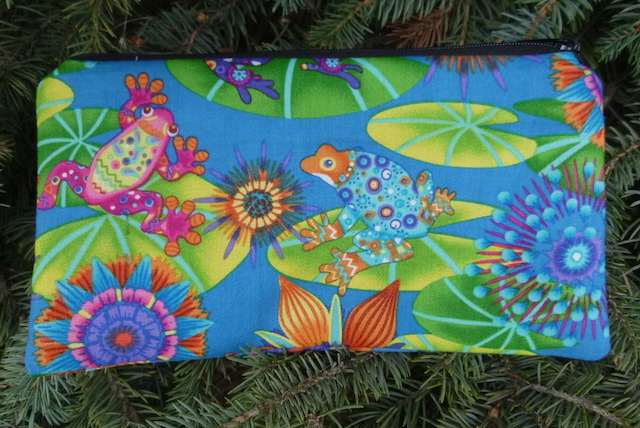 Colorful Frogs Deep Scribe pen and pencil case