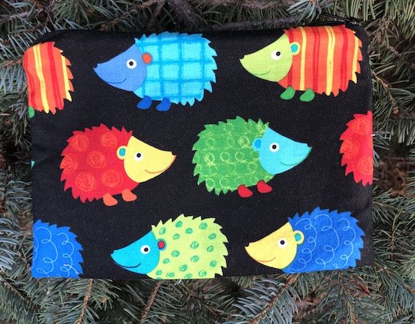 Colorful Hedgies zippered bag, The Scooter