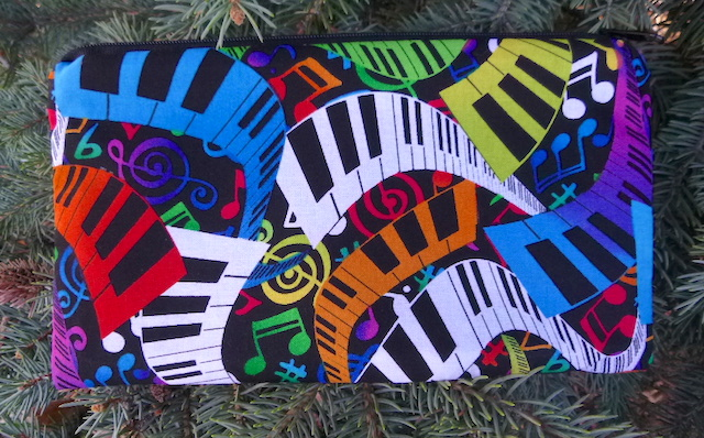 Colorful Keys Deep Scribe pen and pencil case