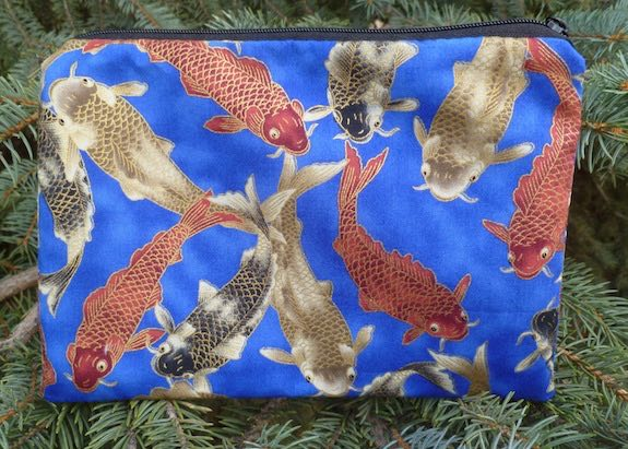 Colorful Koi zippered bag, The Scooter