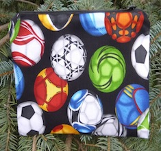 Colorful Soccer Balls zippered bag, The Scooter