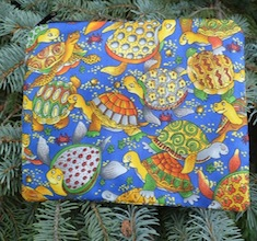 Colorful Turtles zippered bag, The Scooter