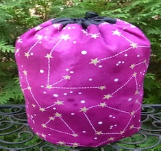 Constellations SueBee Round Drawstring Bag, Pick Your Color