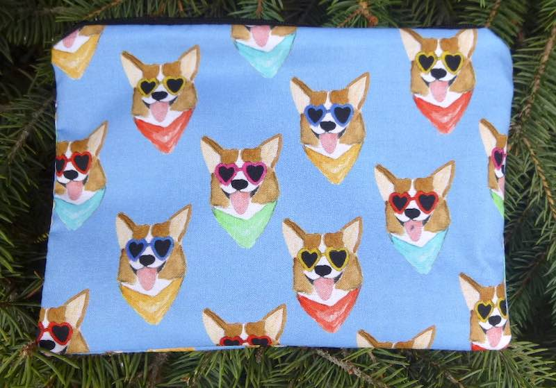 Corgi Love zippered bag, The Scooter
