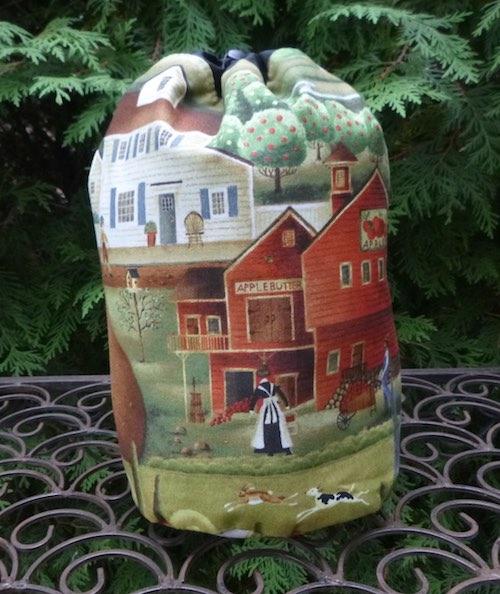 Country Village SueBee Round Drawstring Bag