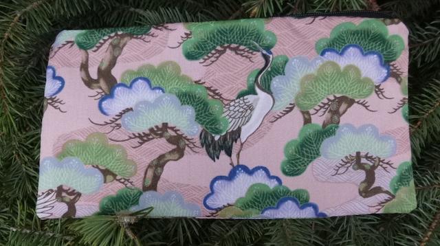 Crane and Bonsai Deep Scribe pen and pencil case