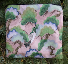 Cranes and Bonsai zippered bag, The Scooter