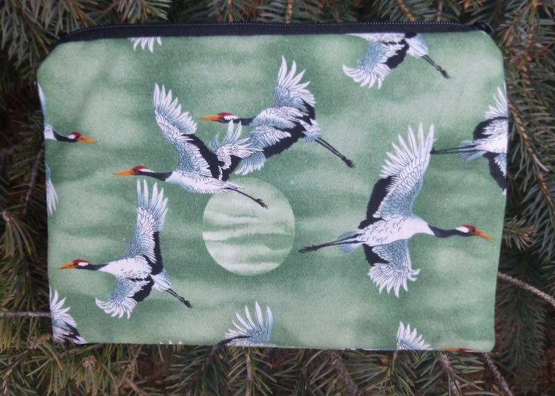Cranes and Moon zippered bag, The Scooter