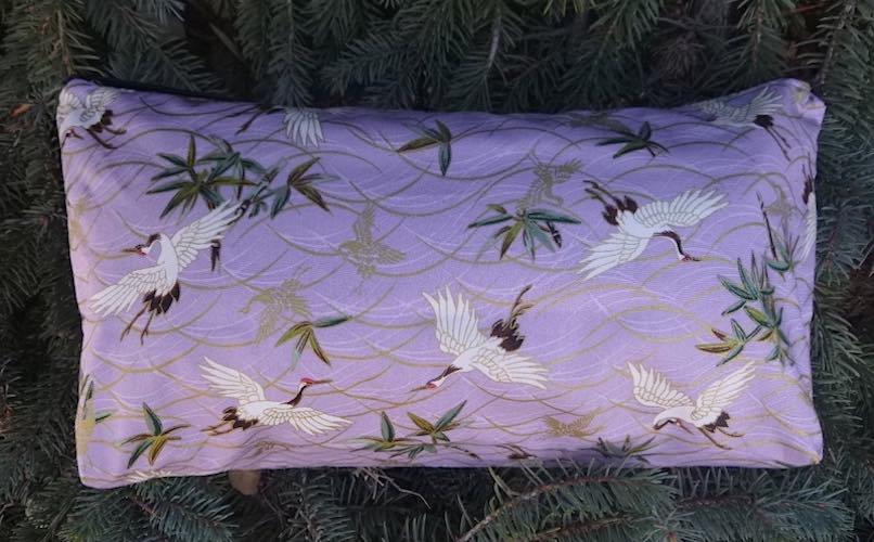 Cranes on Lilac Large Zini Flat Bottom Bag