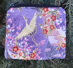 Cranes Landscape purple Coin Purse, The Raven