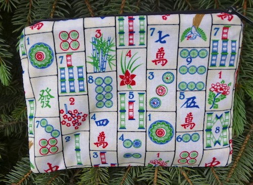 Mahjongg zippered bag, The Scooter, Pick your fabric