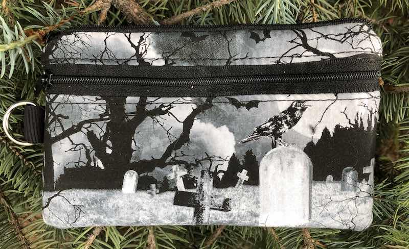 Crow's Graveyard Mini Wallet Purse Organizer, iPhone wallet, The Sweet Pea - CLEARANCE