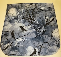 Crows and Moons Pick your Size Morphin Messenger Bag Flap