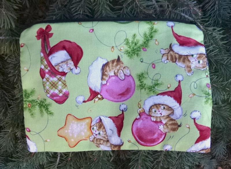 Cute Christmas Kitties zippered bag, The Scooter