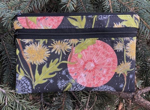 Dandelion clutch, smart phone wallet, mini shoulder bag, up to iPhone 8 Plus wallet, The Wisteria