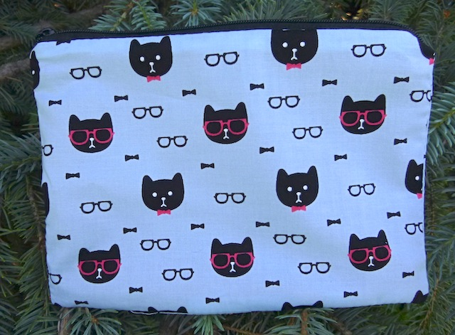 Dapper Cats zippered bag, The Scooter