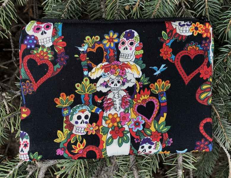 Day of the Dead Bride, Goldie zippered bag