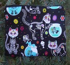 Day of the Dead Cats zippered bag, The Scooter
