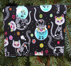 Day of the Dead Cats Wallet on a String
