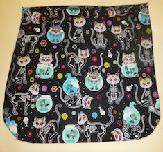 Day of the Dead Cats Pick your Size Morphin Messenger Bag Flap