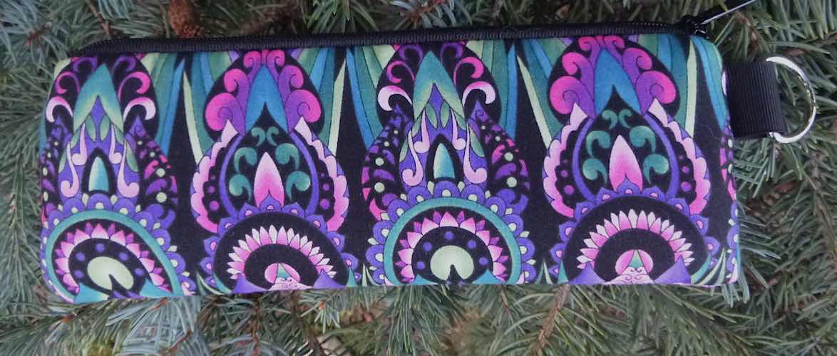 Deco in Purple Padded Zippered Glasses Case, The Spex