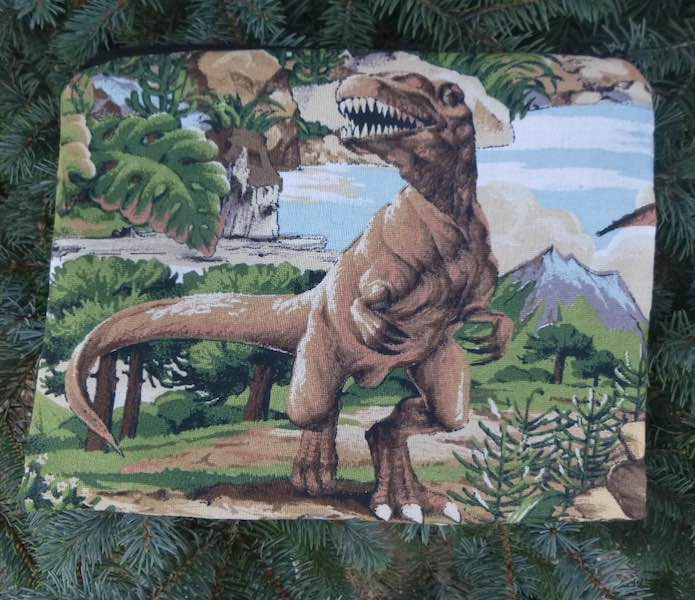 Dinosaur Supa Scribe extra large pencil case or makeup bag