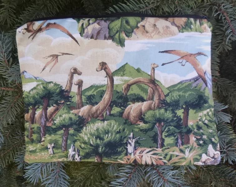 Dinosaurs Supa Scribe extra large pencil case or makeup bag