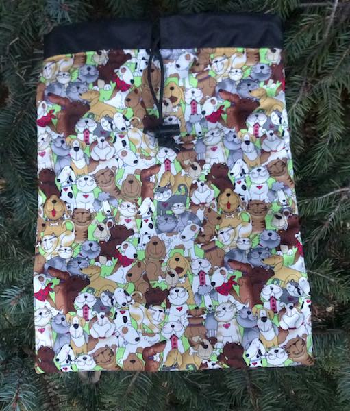 Cats and Dogs Flatie Jr. a flat drawstring bag