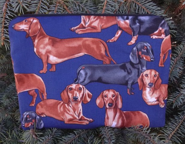 Dachshund Slide Mahjongg card and coin purse