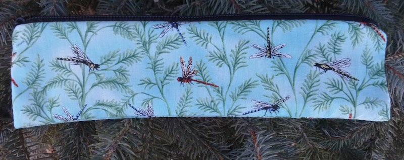 Dragonflies, case to carry paper or reusable straws, The Strawz