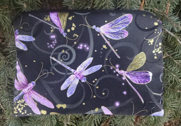 Dragonfly Dance in purple zippered bag, The Scooter