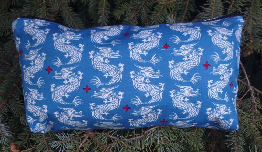 Dragons on Blue Large Zini Flat Bottom Bag