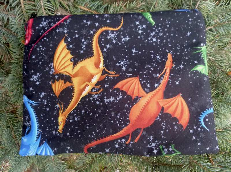 Dragons Supa Scribe extra large pencil case or makeup bag
