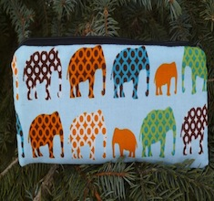 Elephant parade pen and pencil case, crochet hook pouch, The Scribe
