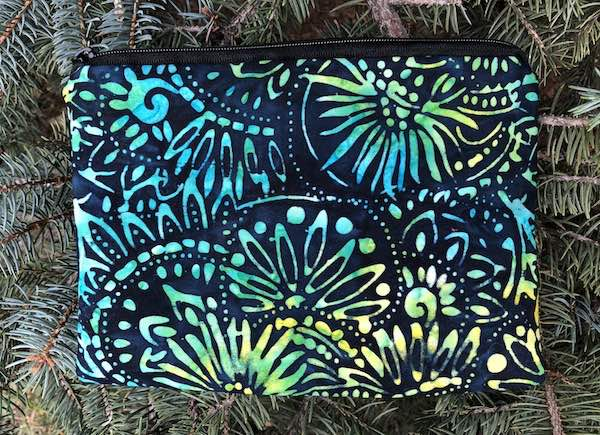 Discs and Flowers Batik zippered bag, The Scooter