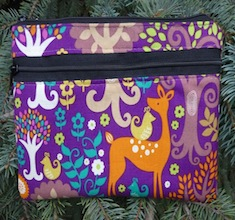 Fantasy Forest clutch, smart phone wallet, mini shoulder bag, The Wisteria