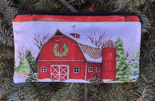 Farm Christmas Stripe Deep Scribe pen and pencil case