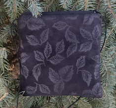 Faux Suede Leaves Wren, special occasion purse