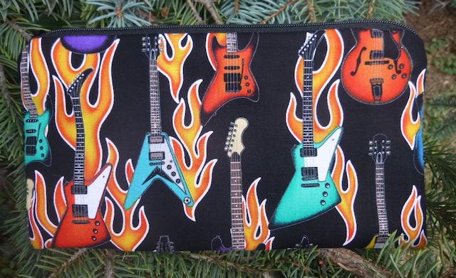 Flaming Guitars Deep Scribe pen and pencil case