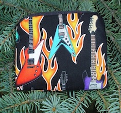 Flaming guitars Coin Purse, The Raven
