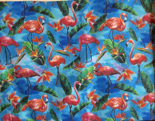 Flamingos Adjustable Face Mask - MADE TO ORDER