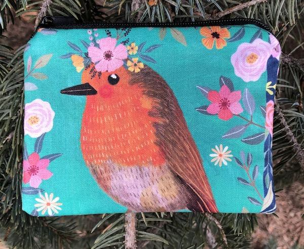 Floral Birds Coin Purse, The Raven