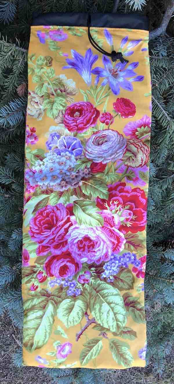 Floral Delight Drawstring pouch for Mah Jongg Racks, The Racker