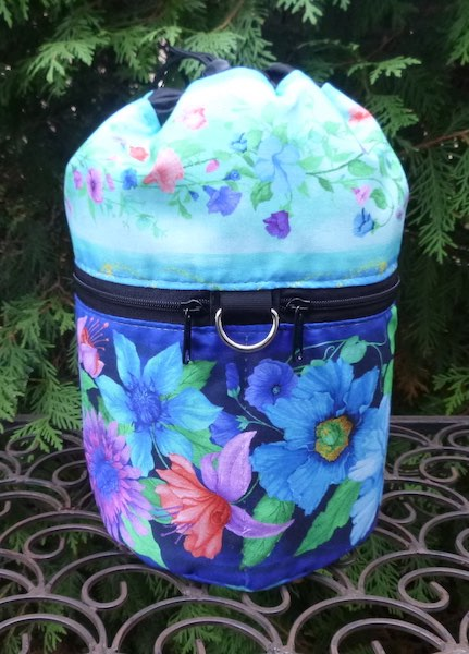Floral Frenzy Kipster Knitting Project Bag