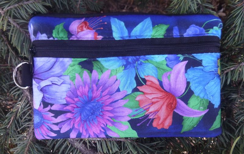 Floral Frenzy Mini Wallet Purse Organizer, iPhone wallet, The Sweet Pea